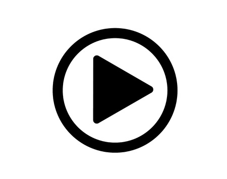 Play video or play media flat icon for apps and websites 矢量图像
