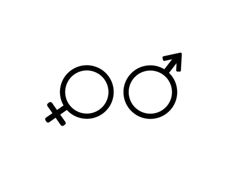 Female and male gender arrow sign man and woman vector image