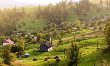 Holiday homes are surrounded by hills and mountains. Wildlife, life.