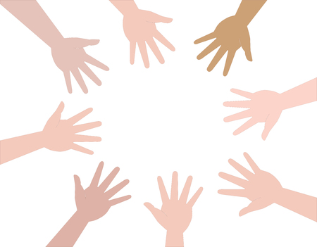 circle from different hands. Help and support.