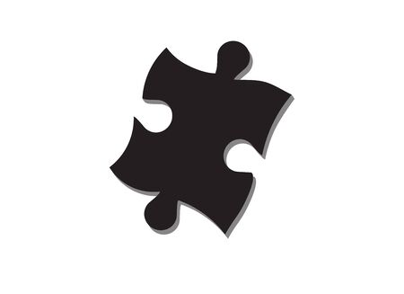 One missing piece of the puzzle. Vector icon Illustration