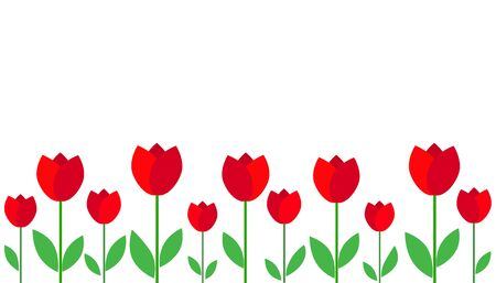 flat icon on white background tulip blooms . 8 March . Womens spring day.;