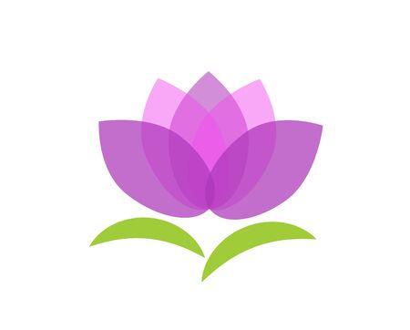 Lotus icon. Vector illustration. Spa salon. Relax