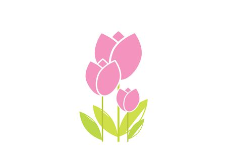 flat icon on white background tulip blooms . 8 March . Women's spring day. Web vector design. Ilustração