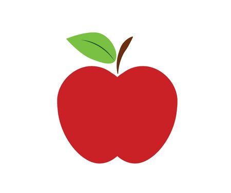 Vector apple icon design with vitamin composition.
