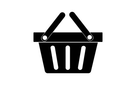 Vector food basket icon. Shopping in stores.