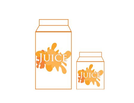Packaging with juice. Vector icon. Food and drinks. Illustration