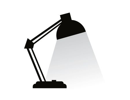 Table lamp icon. Vector image.