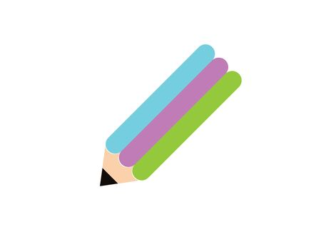 Vector pencil flat icon. Education, science, business.