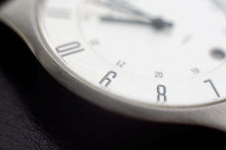 Clock. Macro with blur and soft focus.