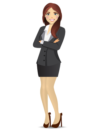 Office woman (business woman) with free blank space for your text.