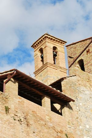 toskana: San Gimignano is a  typical exapmple of the medieval arcitecture in Tuscany Stock Photo