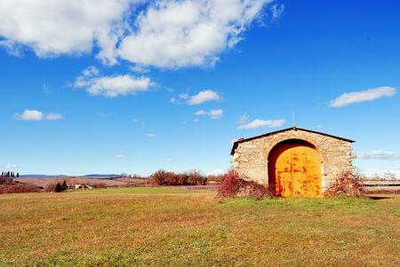 A farmland near Florence in Tuscany