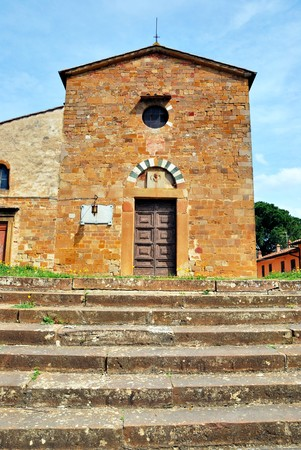 An example of the Tuscan medieval architecture in Tuscany   photo
