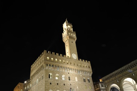 Palazzo Vecchio is simply the most beautiful municipal palace in Italy, probably of the world Stock Photo - 7441345
