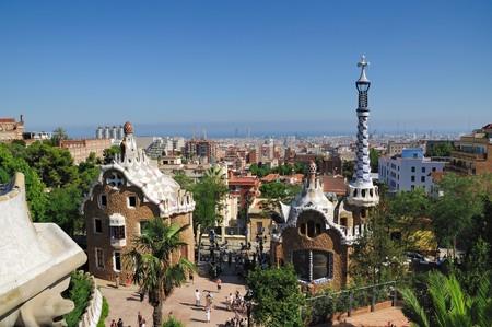 Il guell famoso parco di Barcellona � una creazione di gaudi