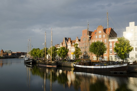 The Hanseatic City of Lübeck is the second-largest city in Schleswig-Holstein Banco de Imagens