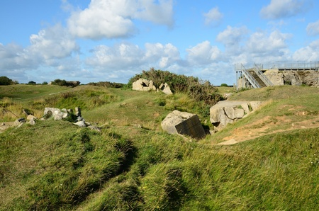 Pont du Hoc, Battlefield in WW2 during the invasion of Normandy,