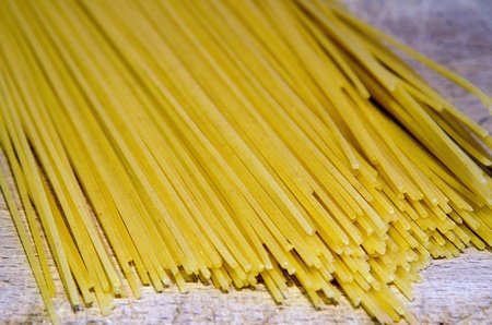 Pasta, a typical dish of the mediterranean diet photo