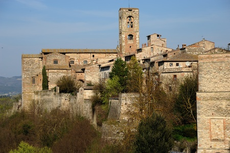 A beautiful medieval village in the central Tuscany photo