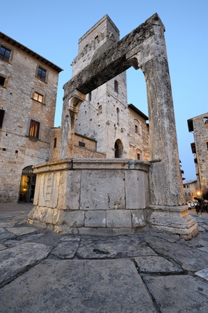 San Gimignano is a jewel of the tuscan medieval architecture photo