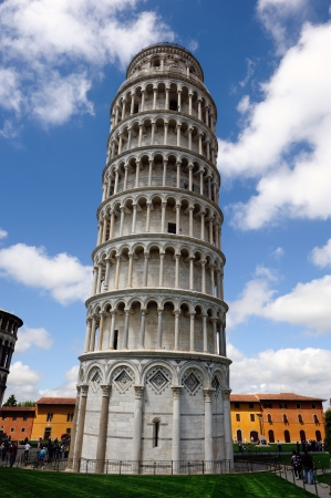 The famous leaning tower   in the ancient town of Pisa (Tuscany) Editorial