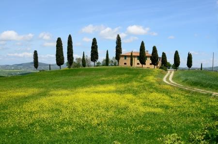 Un des plus beau pays du paysage en Toscane Banque d'images