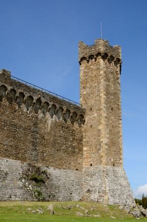 montalcino: Medieval town of Montalcino, Tuscany, Italy