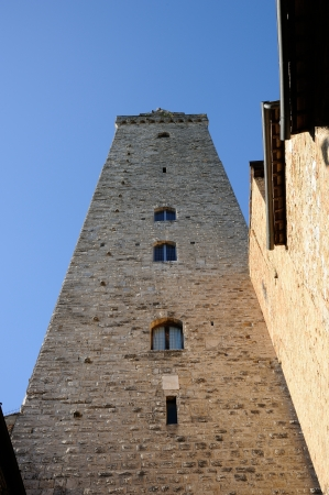 San Gimignano is the city of beautiful towers, landmark of Tuscany, Italy photo