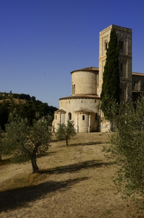 Sant Antimo Abbey near Montalcino in Tuscany, Italy Stock Photo - 14591739