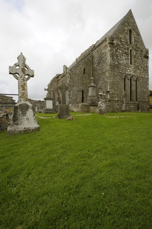 Corcomroe Abbey (Irish: Mainistir Chorco Modhruadh) is an early 13th-century Cistercian monastery photo