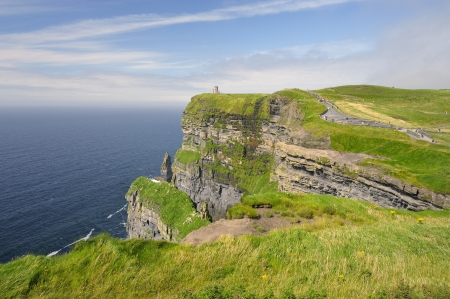 Gripping view of the Cliffs of Moher in Ireland Stock Photo