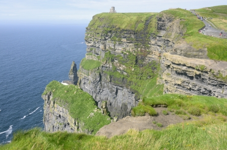 moher: Gripping view of the Cliffs of Moher in Ireland Stock Photo