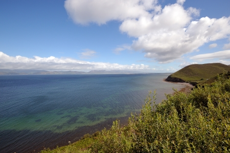 The famous landscape of Dingle bay in Ireland photo