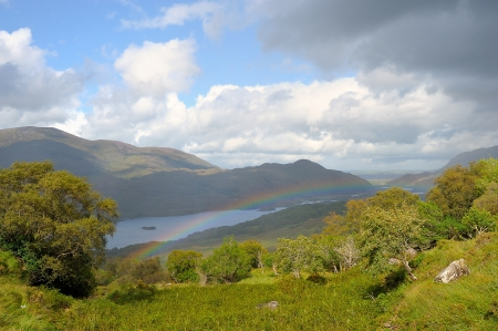 ireland: A beautiful landscape along the ring of kerry Stock Photo