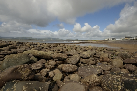 historically: Waterville, historically known as Coirean is a villagbeach e in County Kerry (Ireland) Stock Photo