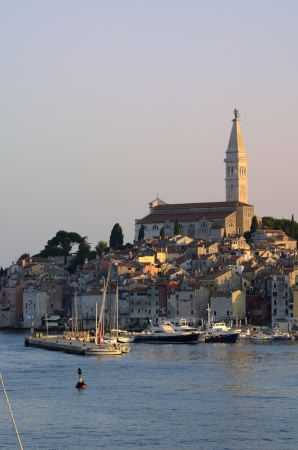 architecture of Rovinj, Croatia. Istria touristic attraction photo