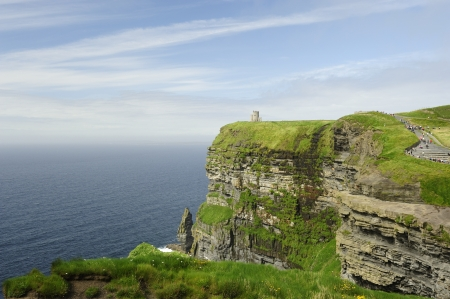 The famous Cliffs of Moher in Ireland photo