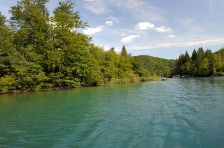 Bellissimo paesaggio nel Parco Nazionale laghi di Plitvice in Croazia