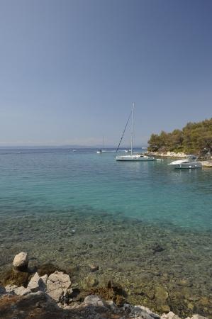 A beautiful sea landscape in the Krk park (Croatia)