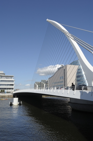 samuel: The Samuel Beckett Bridge in Dublin, Ireland Stock Photo
