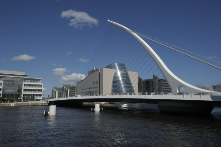 samuel: The Samuel Beckett Bridge in Dublin, Ireland Editorial