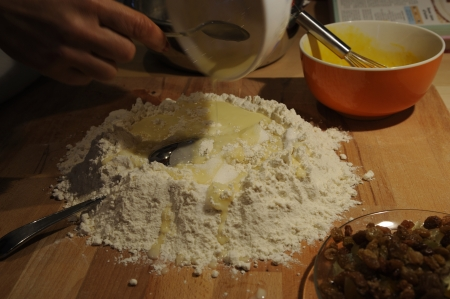 The making of a traditional dish of the italian cuisine photo