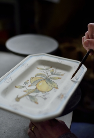 ceramica:  Traditional art of potterys decoration in Tuscany