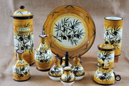 Some beautiful painted classical tuscan potteries (Ceramiche)  Stock Photo - 18367973