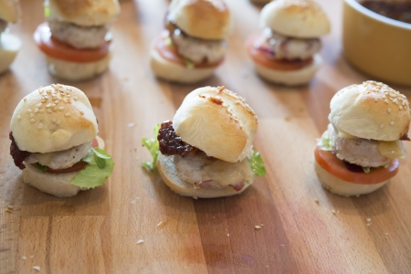 mini hamburger, mini hamburger, cibo, festa, finger food