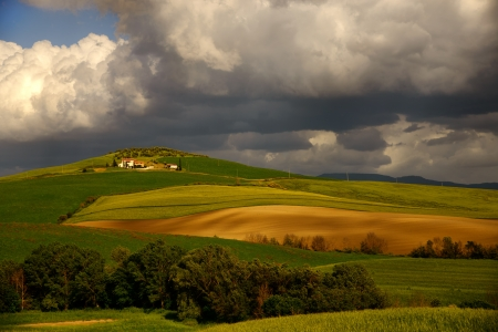 View over the hills of Tuscany in Val dorcia photo
