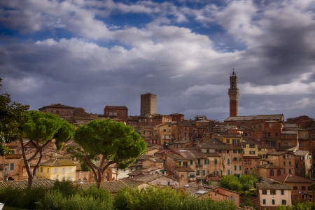 sienna: Beautiful view of the city of Siena  Tuscany  Stock Photo