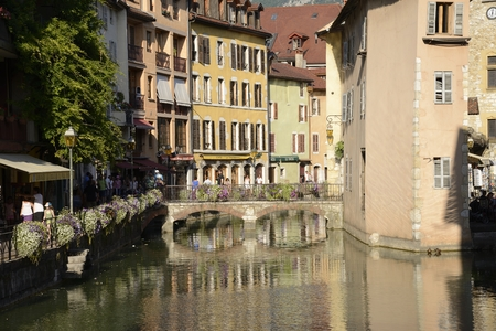 The beautiful town of Annecy  France