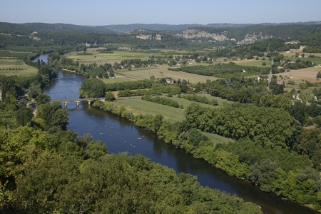 View from the old town of Domme across the valley photo